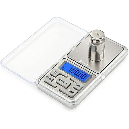 iitrust Báscula Cocina Digital, 500g / 0.01g Bascula de Cocina con Alta Precisión, Mini Balanza de Alimentos Multifuncional, Peso de Cocina, Función Tara, para Ingredientes, Joyería, Café