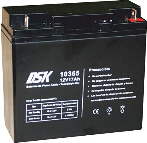 DSK 10365–Akku Blei-Gel 12V 17Ah, schwarz