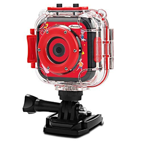 DROGRACE Kinder Kinder Kamera Wasserdicht Digital Video HD Action Kamera 1080P Sportkamera Camcorder DV für Jungen Mädchen Geburtstagsgeschenke Lernen Kamera Spielzeug 1,77 Zoll LCD-Bildschirm