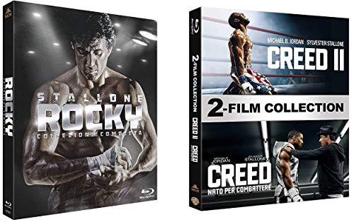 ROCKY - La Saga Completa (6 Blu-ray) + Creed 1+2 (2 Blu-ray) (2 Box - Ed. Italiana)