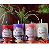 Best Scented Candles - Luxantra Wax Scented Pillar Candle Rose Strawberry Lavender Review