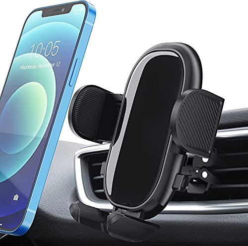 Handyhalterung Auto,Handyhalter fürs Auto Lüftung mit stabilem Clip und Dual Release-Taste Smartphone Halterung Auto,Universal Kfz Handyhalterung Kompatibel mit iPhone12/11/X, Galaxy Note20/S20/10 usw