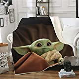 3D Baby Yoda Throw Blanket,Ultra Soft Blanket Cozy Warm and Hypoallergenic Washable Couch or Bed Throws Birthday Gift (E,7959)