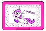 Brotdose Einhorn PERSONALISIERT Lunchbox Brotbüchse Butterbrotdose für Kinder mit Namen viele Farben viele Motive
