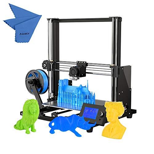 Aibecy Anet A8 Plus Impresora 3D de alta precisión mejorada Medio bricolaje Semi-ensamblaje 300 * 300 * 350 mm Tamaño de impresión grande Marco de aleación de aluminio Panel de control LCD movible