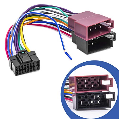 Adaptador Universal DIN ISO para Radio de Coche Compatible con Alpine CDA CDE RM R RB E RI CDM Flex