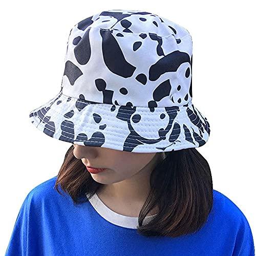 AOQW Sombrero De Pescador Sombrero De Cubo Plano De Leopardo Hombres Mujeres Desgaste De Doble Cara...