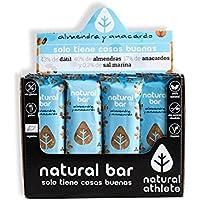 Barritas Energéticas Almendra y Anacardo Natural Athlete, Sin Azúcar Añadido, 100% Natural y Orgánicas, Sin Gluten, Vegana -Pack 12x40 g