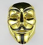 VIP Gold Version V for Vendetta Mask/Anonymous/Guy Fawkes mask mask (Golden)
