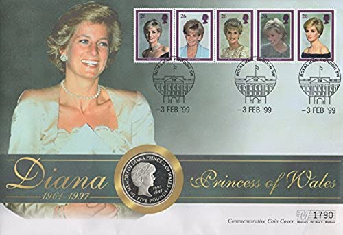 1999 DIANA PRINCESS OF WALES COMMEMORATIVE £5 FIVE POUND COIN COVER