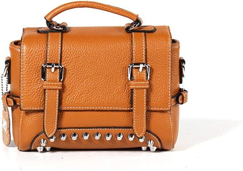 Ladies Handbag Women's Leather Shoulder Bags Briefcases Messenger Bags Vintage Design Large Capacity, 1 (color    1)
