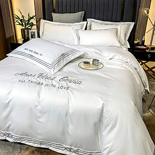 funda nordica cama 90 juveniles,Conjunto de camas edredón Suave Soft Soft Soft Sof Soft de 4 piezas - Conjunto de camas completas Incluye cubierta de edredón 2 Casas de almohadas-B_Cama de 2.0m (4 pi
