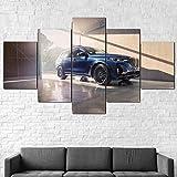 HHGJJ 5 Piezas Impresiones En Lienzo 2021 BM Alpina Xb7 3 Superdeportivo 5 Piezas Cuadro sobre Lienzo,Cuadro En Lienzo 5 Piezas,Pintura Decoración 5 Piezas,HD Mural Moderno Decor Hogareña,150X100Cm