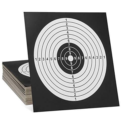 Huntvp 100er Pack Zielscheiben 14x14cm, für Schießspiel Scheibenkasten Softair Airsoft Luftpistole Luftgewehr