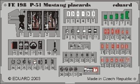Eduard Accessories fe198 Modélisme Accessoires de p 51 Mustang placards