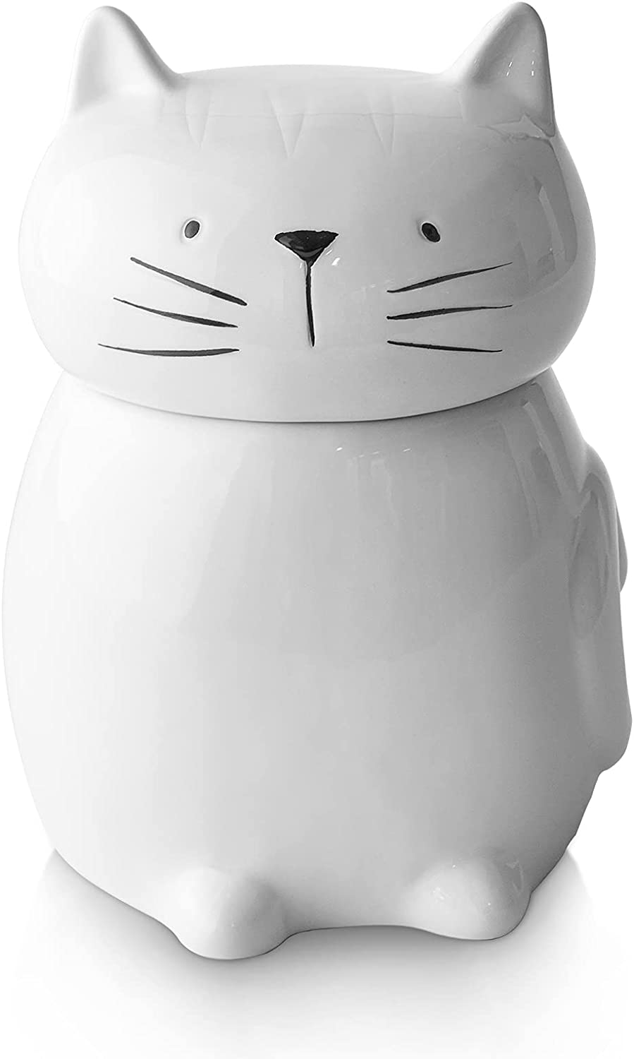 Y YHY Dog and Cat Food Storage Container,Airtight Ceramic Pet Food Storage for Dog and Cat, Dog Food Storage and Cat Food Storage,Dog Cat Food Bin,Cute Cat Design with Mini Wings and Tail