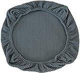 Yikko Fundas de asiento elásticas de spandex para sillas, lavables, para sillas de oficina, sillas de comedor, bar, decoración de bodas (gris)