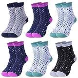 L&K 6 Paar Damen Thermosocken mit Innenfrotttee Wintersocken Sneaker Socken 92274, Mehrfarbig, 39-42