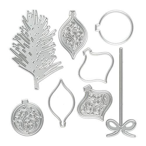Metal Christmas Tree Lamp Lantern Cutting Dies Embossing Stencil Template Tool Mold for Card Making Scrapbooking Paper Album Stamps DIY Christmas Décor Paper Craft