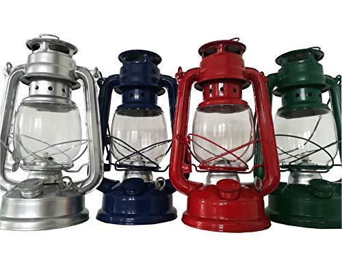 Petroleum Sturmlampe 24 cm inkl. 2X Docht und Einfülltrichter Sturmlaterne Laterne Lampe