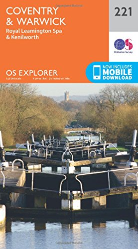 Price comparison product image OS Explorer Map (221) Coventry and Warwick,  Royal Leamington Spa and Kenilworth
