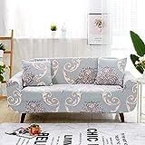 WXQY Estirar la Funda de sofá Rosa Impresa con Todo Incluido para la Sala de Estar, el sofá en Forma de L de Esquina segmentada Necesita Comprar 2 Piezas A8 de 2 plazas