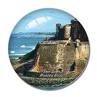 サンファン国立史跡プエルトリコ冷蔵庫マグネットホワイトボードマグネットオフィスキッチンデコレーション