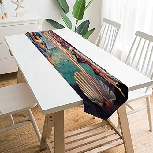 Table Runner Greek Mythology Figure Table Runner Acer Patterns Dining Table Runners for Home Kitchen Party Wedding Decorations, 70.1x12.9inch