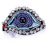 COLORFULTEA Turco Mal Ojo Pin Broches para Las Mujeres Azul Ojo con Lágrima Rhinestone Cristal Cristal Solapa Collar Pins Broche Joyería