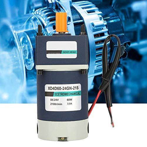 KAIBINY Reducción de velocidades del Motor, de Alta torsión velocidades Ajustables del Engranaje del Metal imán Permanente DC motorreductor de 24V 60W (Relación de Reducción de 18 120 RPM)
