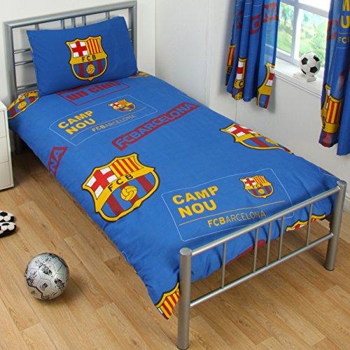 F.C. Barcelona Juego de funda nórdica PT Juego de cama funda nórdica de funda de almohada de 200cm x 135cm aprox. 70