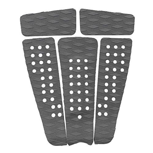 5 piezas universal antideslizante tabla de surf cojín almohadilla girp, cómodo, durable y ligero Adhesivo en la parte posterior, fácil de aplicar y quitar El surco de diamante garantiza que su pie delantero quede bloqueado en su tablero cuando esté g...
