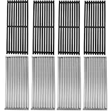 SafBbcue Cast Iron Cooking Grates and Infrared Emitter Replacement for Charbroil Infrared Grills 463224912 463231711 463241413 463247209 463247310 463271314 466231711 466247310