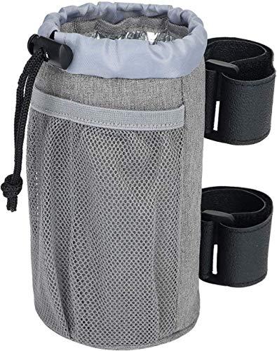 XITVVyg Getränkehalter Fahrrad,Flaschenhalter Fahrrad,Wasserflaschenkäfig, Getränkebecherhalter mit Aufbewahrungstasche für Fahrrad,Rennrad, Boot, Roller, Rollstuhl usw,Verstellbares Verschluss