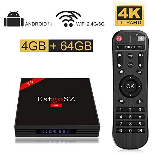 EstgoSZ TV Box Android 7.1 4GB RAM 64GB ROM RK3328