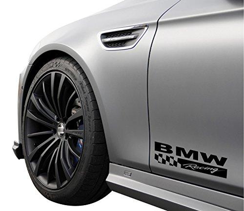 fits BMW Racing 330 325 335 535 540 M3 M5 E36 E46 E60 E90 Decal Sticker Emblem Logo Gloss Black