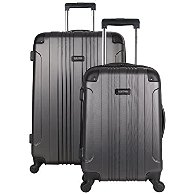 Kenneth Cole Reaction Out of Bounds Abs 4-Wheel Luggage 2-Piece Set 20  and 28  Sizes, Charcoal