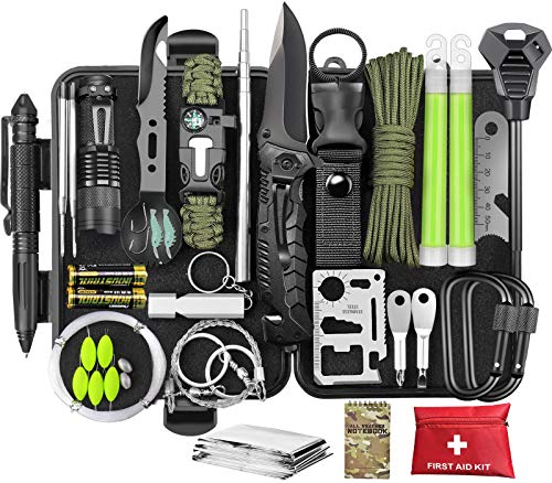 SCRIBY Survival Kit 73 in 1 - Emergency Survival Gear and Equipment...
