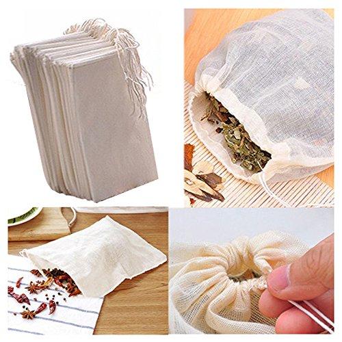 Fomccu - 10 bolsas muselina algodón cordón reutilizables