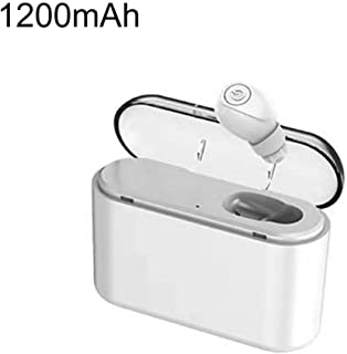 Wireless Headphones,Wireless Earbuds X8 1Pc Sports Wireless In-ear Ear Bud with Charge Box Bluetooth V4.2 Earphones - White 1200mAh
