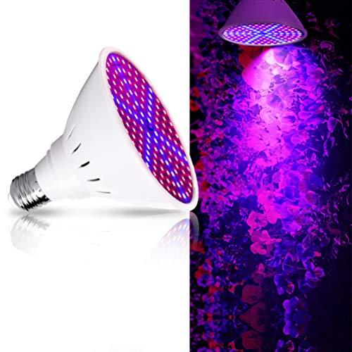 Mobestech 2 Pz LED Coltiva La Lampadina E27 Lampadine per Piante a Spettro Completo per Piante da Interno Idroponica Serra Piante in Vaso Fiori 60W