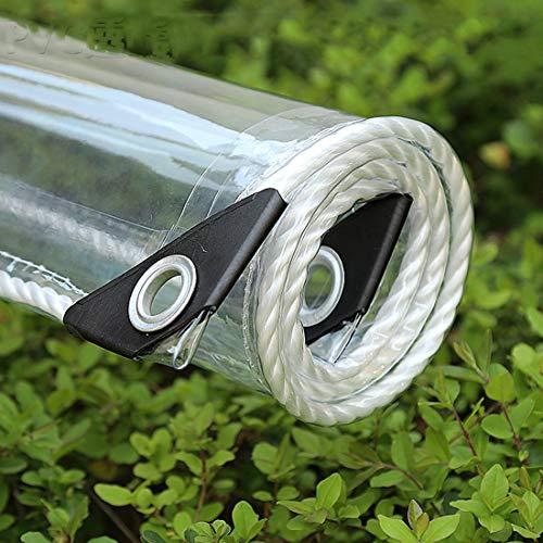 HUAZIYU Lona de Protección Impermeable Vaso Transparente,Tela de Plástico PVC,Anti Congelación Película,Toldo de Aislamiento,Cubierta for Invernadero Jardín Planta,con Ojales,390g/m²(2x4m/6.6x13.1ft)