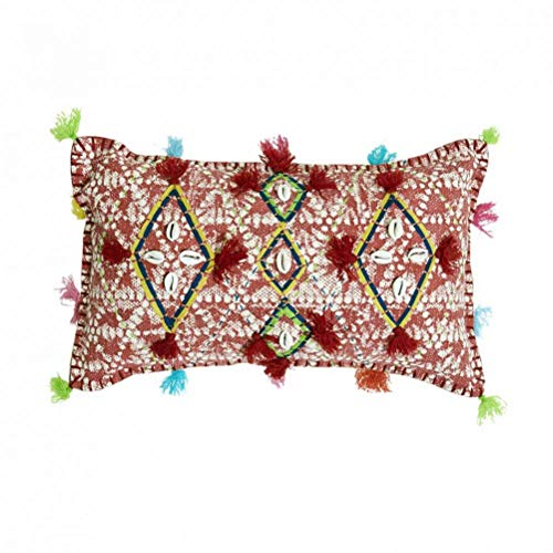 Zen ETHIC Bundari - Funda de cojín (30 x 50 cm, algodón), diseño de flores, color único, 30X50CM