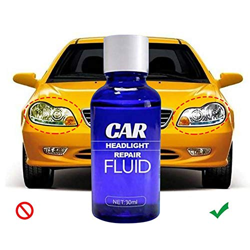 Scheinwerfererneuerungsflüssigkeit, Auto-Scheinwerfer-Kratzerentferner Auto-Lichtreiniger Kfz-Scheinwerfer-Restaurierungskit, UV-Schutz, 30 ml