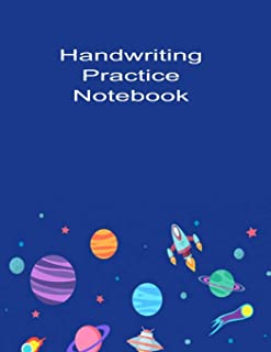 Handwriting Practice Notebook: This astrology themed handwriting practice notebook journal is perfect for K-3 aged childre...