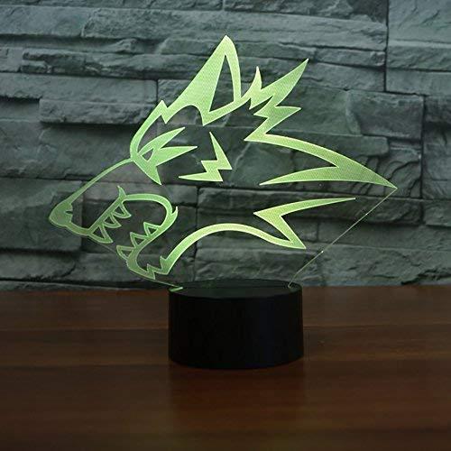 Luz de noche LED 3D lámpara deslizante con forma de coche para niños lámpara de cabecera con control remoto 7 cambio de color interruptor táctil lámpara de mesa cumpleaños vacaciones regalo de Navidad