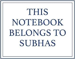 This Notebook Belongs to Subhas