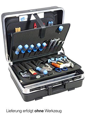 B&W Werkzeugkoffer FLEX mit Werkzeugeinsteckfächern (Koffer aus ABS, Volumen 34,3l, 47 x 36,5 x 20 cm innen) 120.03/P, ohne Werkzeug