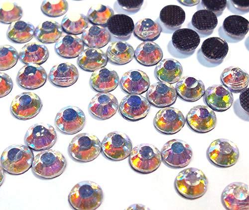 Perlin Hotfix SS20 - 1440 piedras de cristal redondas de 5 mm, piedras preciosas de 4,4 a 5 mm para ropa, vestido, zapatos, bolsos y decoraciones (Crystal AB)