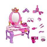Tocador para niños Juego de mesa para niña Juguete multifuncional para tocador de sueños Juguete para niños Casa de simulación Juguete para tocador para niños (Color: Rosa, Tamaño: 60.5x29.5